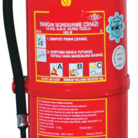 12 Kg ABC Kuru Kimyevi Tozlu Sürekli Basınçlı Yangın Söndürme Cihazı