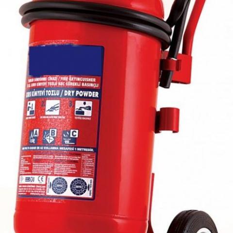 50 Kg Kuru Kimyevi Tozlu Sürekli Basınçlı Yangın Söndürme Cihazı