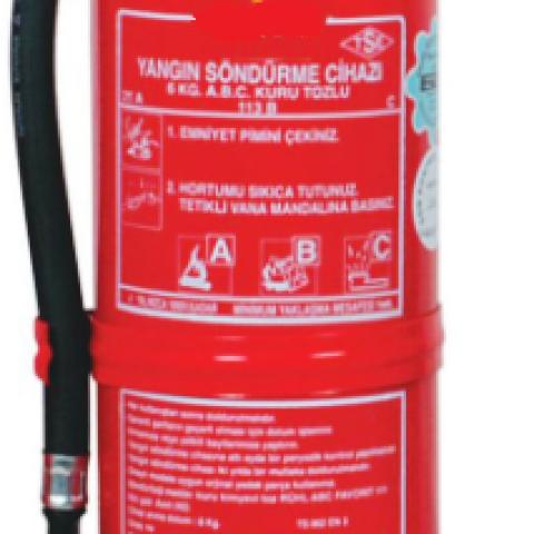 6 Kg ABC Kuru Kimyevi Tozlu Sürekli Basınçlı Yangın Söndürme Cihazı